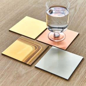 HAKU LA TABLE(ハク ラ ターブル) コースター同色2枚組(約10×10cm) 写真