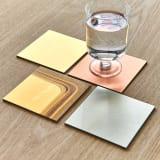 HAKU LA TABLE(ハク ラ ターブル) コースター同色2枚組(約10×10cm)