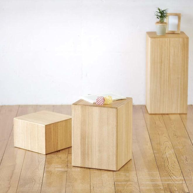 かるばこ テーブル&スツール 小さいお子さんのデスク&チェアとしても。花台としても。