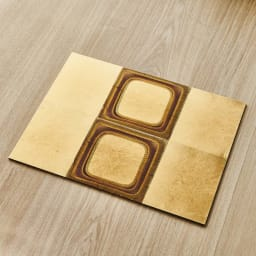 HAKU LA TABLE(ハク ラ ターブル) テーブルマット1枚(約30×40cm) (エ)ゴールドグラデーション