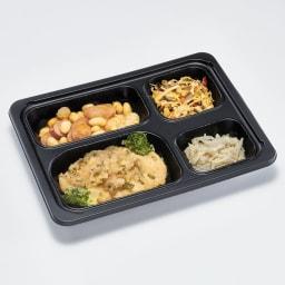 糖質制限7食セット 白身魚のみぞれ煮 副菜:大豆とソーセージのトマト煮込み・筍と玉子の中華風炒め・もやしのナムル