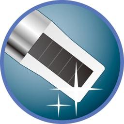 Soladey/ソラデー ソラデー3 (色が選べる2本組) ソーラーパネル 太陽や蛍光灯の光により、電子を発生させます。