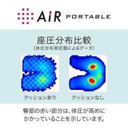 [エアーポータブル]クッションS 40×40cm
