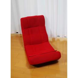 ピュアフィット 快適ソファー座椅子 らくらく腹筋生活DX (イ)レッド…インテリアのアクセントになるオシャレなレッド。お部屋が明るくなります。