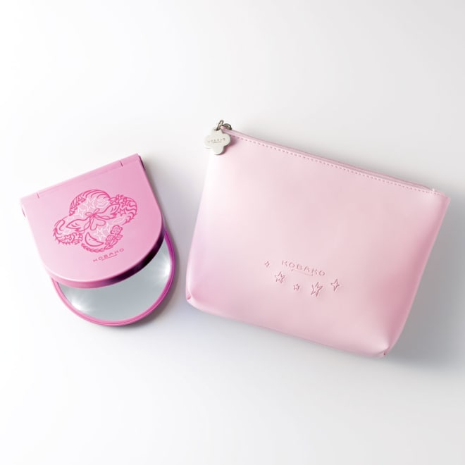 KOBAKOコスメティックミラーセット ピンク