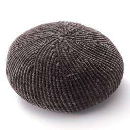 太モールベレー帽 (ア)チャコールグレー