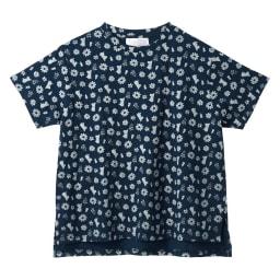 ムーミン&リトルミイ ゆるシルエットTシャツ (イ)ネイビー
