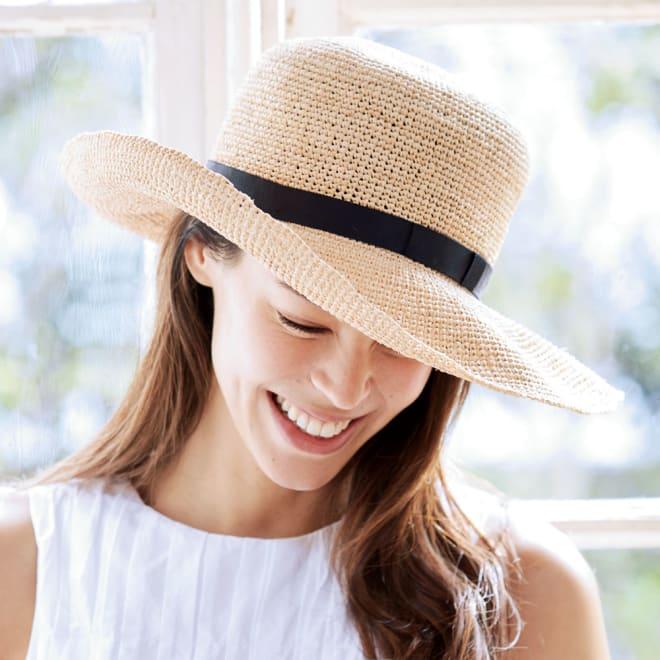 ラフィア帽 コーディネート例