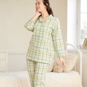 二重ガーゼシャツパジャマ 写真