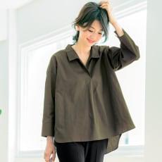 Roberto Leone/ロベルトレオーネ 体型をカバーするプルオーバーシャツ