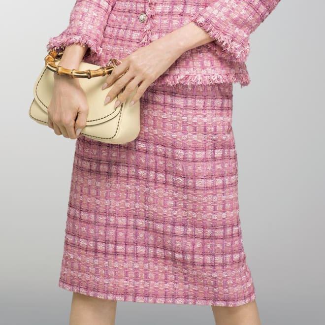 マリア・ケント社 ピンクツイード スカート 着用例