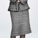 マリア・ケント社 モノトーン ツイード スカート 写真