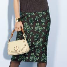 フラワー刺繍 スカート