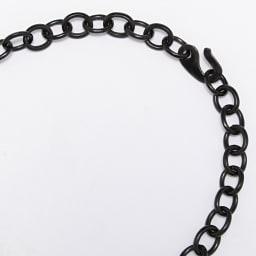 水牛 アール・デコ ロータスフラワー ネックレス (イ)ブラック系 フック式