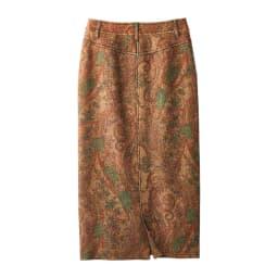 ラッティ社 ペイズリー柄 ロングタイトスカート BACK
