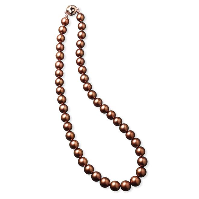 8~10mmショコラパール ネックレス