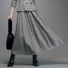 「NIKKE」 マフ バーズアイチェック フレアースカート
