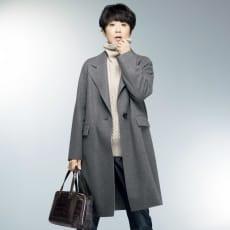 ウールカシミヤ TPS縫製 ダブルフェイス コート