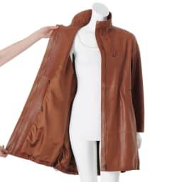 エントルフィーノ モッズ風デザイン コート 襟・ウエスト・裾ドローストリング仕様  ※インナーは含まれません。