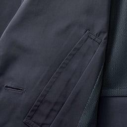 「サイネックス(R)」 撥水加工 チェスターコート 前身頃内側には便利なポケットを付けました。