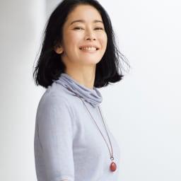 YUKIKO OKURA/ユキコ・オオクラ オオイソバナ珊瑚 ロング ネックレス&ペンダントセット コーディネート例(ペンダントのみ)