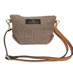 LAURA DI MAGGIO(R)/ラウラ ディ マッジオ 素材コンビ 2WAY バッグ(イタリア製) インポーチはショルダーを付けてポシェットとしても
