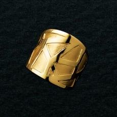 UNOAERRE/ウノアエレコラボ K18 デザイン リング