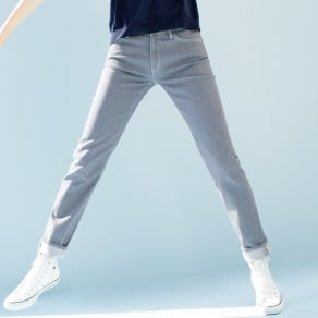 【股下丈65cm】 JAPANデニム スリム ストレートパンツ 写真