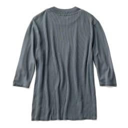 MAYUCA(R) シルクニット Tシャツ (ア)ブルーグレー BACK