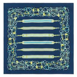 シルクツイル ベルトモチーフ スカーフ