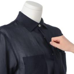 リネンシルク シアーシャツ