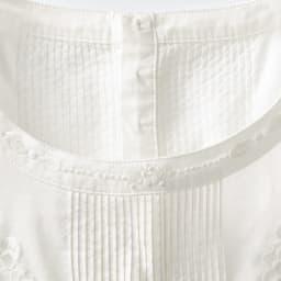 ベトナム ハンド刺繍 チュニックブラウス 襟元