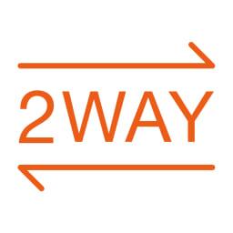 2WAYデザイン ニットワンピース