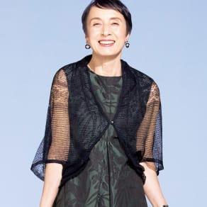 レーシー 透かし編み ボレロ 写真