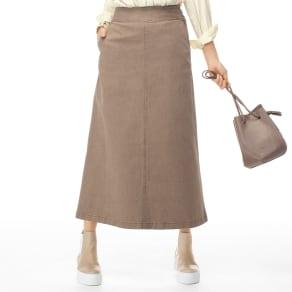 ストレッチデニム セミタイト ロングスカート 写真