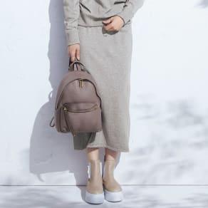 「スマイルコットン」 ハイゲージ 裏毛 スカート 写真