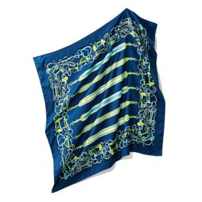 シルクツイル ベルトモチーフ スカーフ 写真