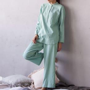 コットンダブルガーゼ デザイン パジャマ 写真