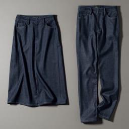 「NIKKE」 マフデニム セミフレアスカート ※お届けは、左のセミフレアスカートです。