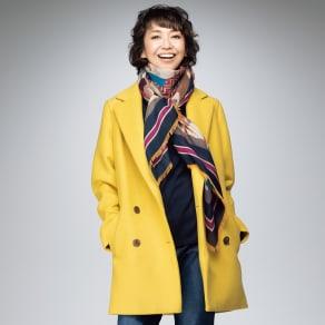 テクスコ社 カシミヤ二重織りダブルジャケット 写真