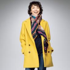 テクスコ社 カシミヤ二重織りダブルジャケット