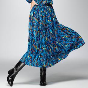 ラッティ社 マルチカラープリント スカート 写真