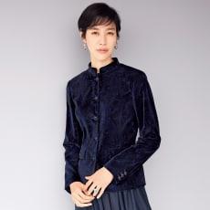 イタリア素材 ペイズリー柄 ベルベットジャケット