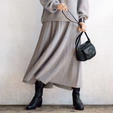 ラメ入りラクーン混ニット スカート