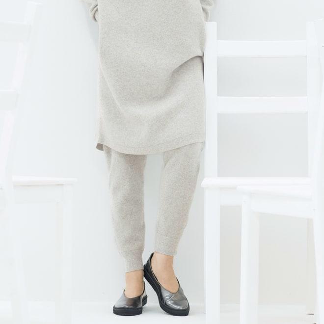 ホールガーメント(R) ワッフル編み パンツ 着用例