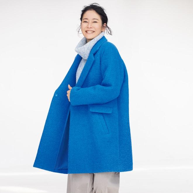 イタリア素材 ポケットデザイン コート コーディネート例