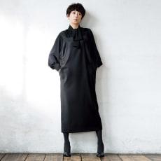 シルク混 ウールギャバジン ジャンパースカート