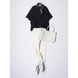 HAAG(R)/ハーグ スマイルコットン パイルTシャツ コーディネート例