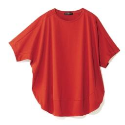 コットンスムース コクーン Tシャツ (イ)テラコッタオレンジ