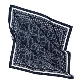 シルク ロープ柄プリント スカーフ 写真